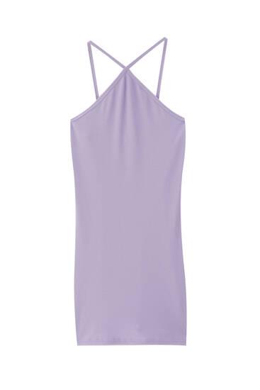 Short fitted halter dress