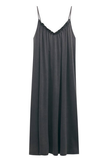Faded long strappy dress