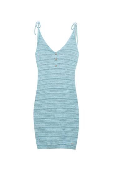 Short strappy crochet dress