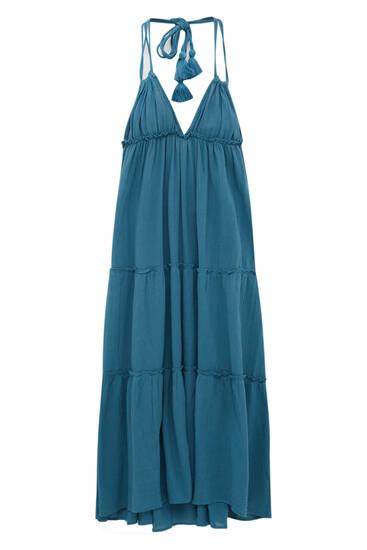 Long strappy open-back dress