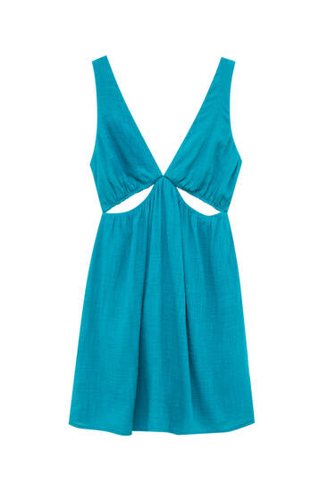 Strappy dress with cut-out detail