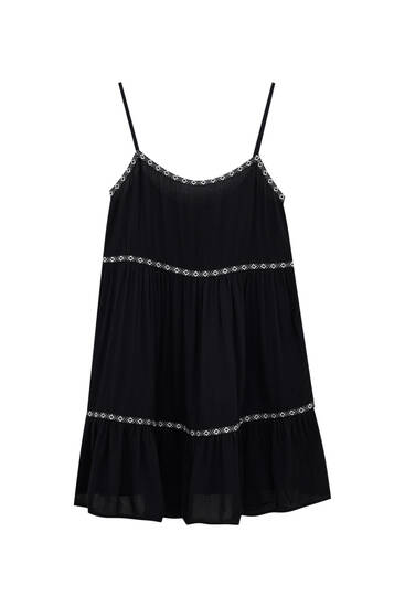 Strappy mini dress with band details