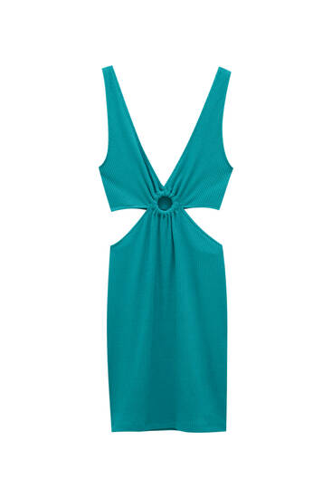 Short strappy dress with cut-out design