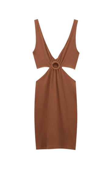 Kratka haljina s prorezima i naramenicama