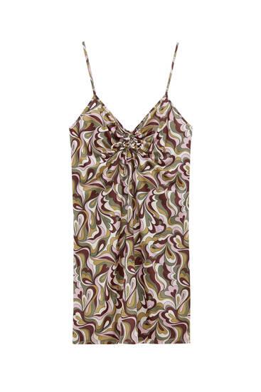 فستان قصير بطبعة ريترو