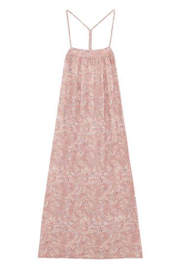 فستان طويل بطبعة فينتاج