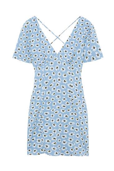 Kratka haljina s tratinčicama