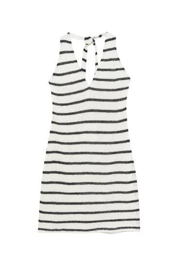 Short striped rustic dress