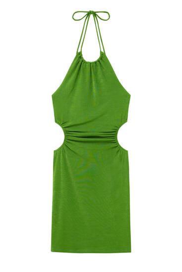 Kratka haljina s američkim izrezom i prorezima