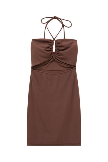Short dress with cut-out detail