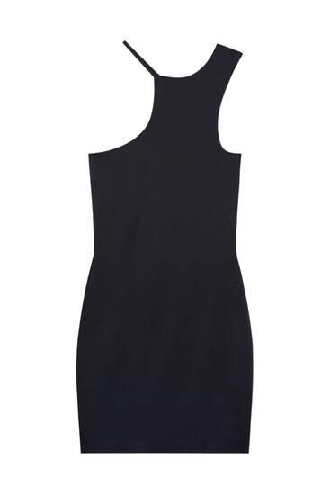 Short dress with asymmetric straps