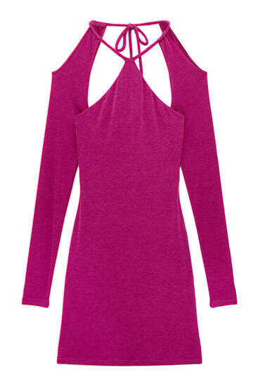 Cut-out dress with long sleeves