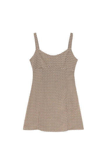 Short geometric print dress