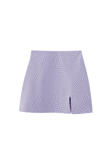 Psychedelic print mini skirt - contains recycled polyester