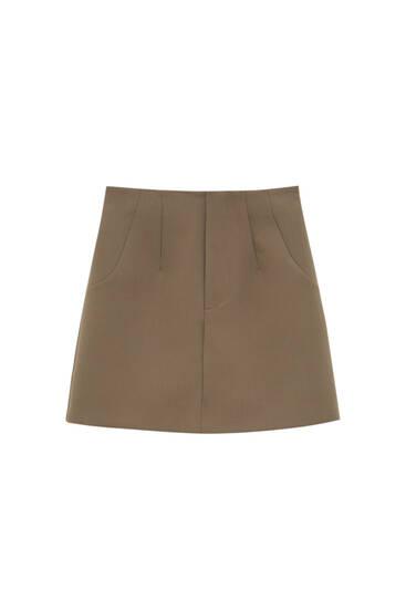 Mini skirt with seam details