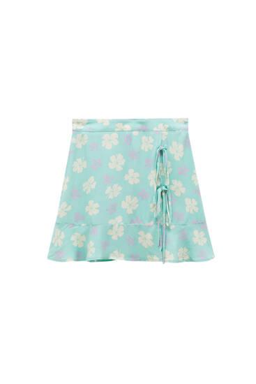 Basic wrap mini skirt