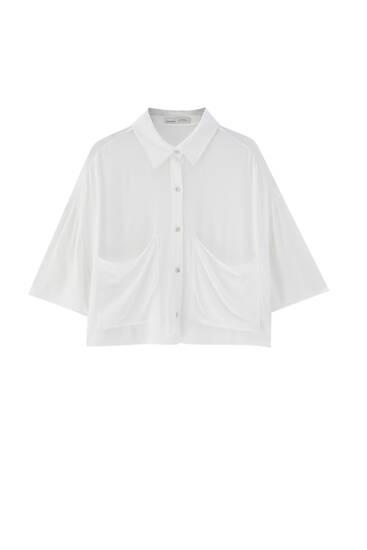 Camisa cropped bambula