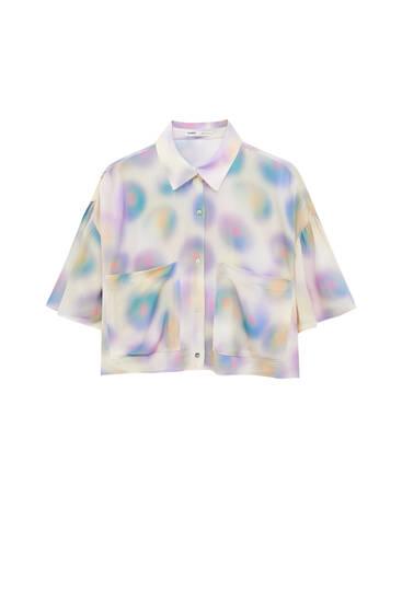 Camisa cropped tie-dye