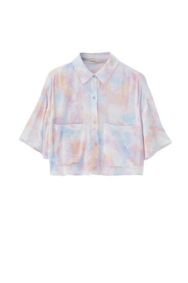 Cropped tie-dye shirt