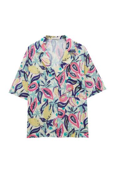 Rustic fabric fruit shirt