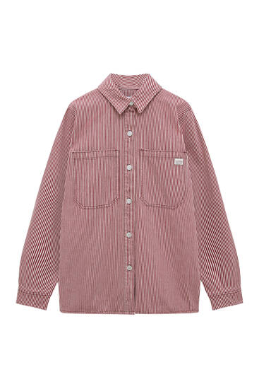 Striped overshirt with pockets