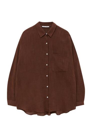 Camisa rústica marrón