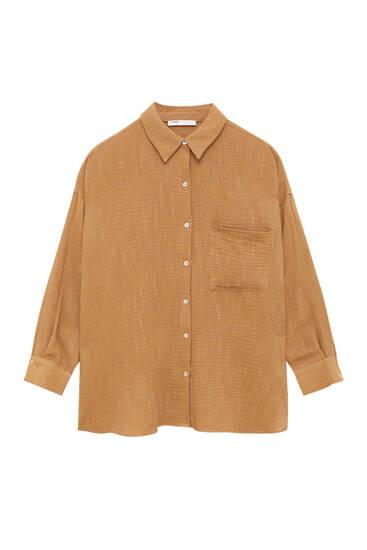 Camisa rústica bolsillo