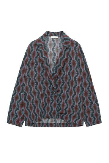 Блуза с волнистым принтом