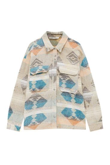 Printed jacquard shirt