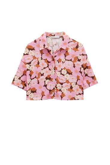 Camisa flores retro