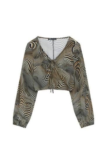 Wavy print blouse
