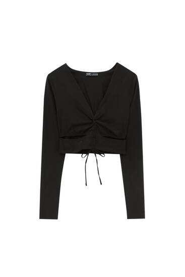 Cut-out top with gathered front