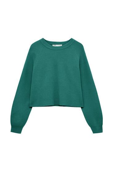 Basic purl-knit sweater