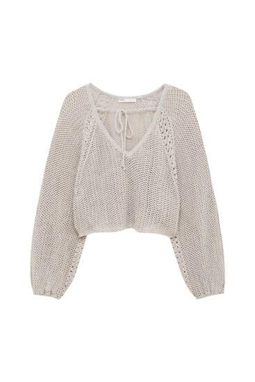 Double-use crochet sweater