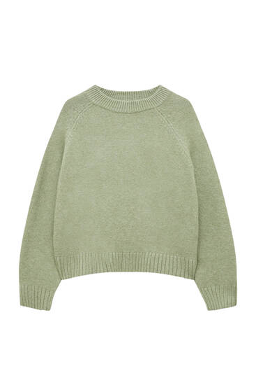 Soft knit sweater with vents