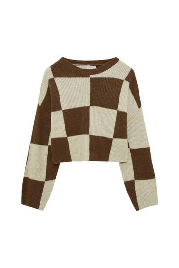 Chequerboard sweater