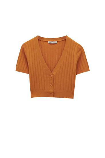 Knit cropped cardigan