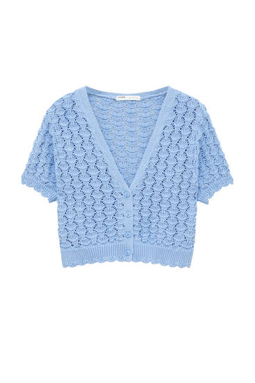 Buttoned knit cardigan