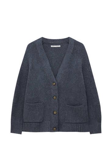 Oversize soft knit cardigan