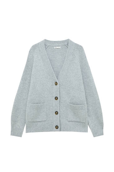 Oversized tricot vest