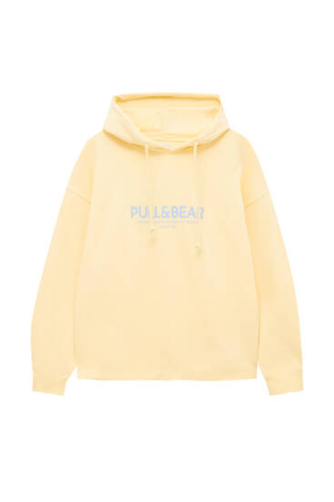 Hoodie with Pull&Bear slogan