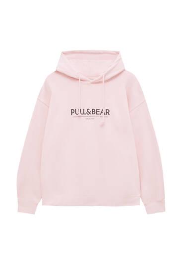 Felpa logo Pull&Bear cappuccio