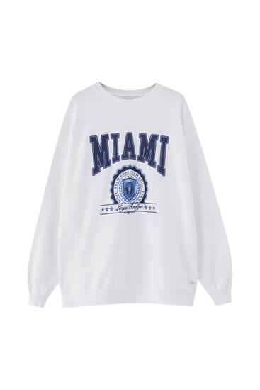 Λευκό φούτερ oversize Miami