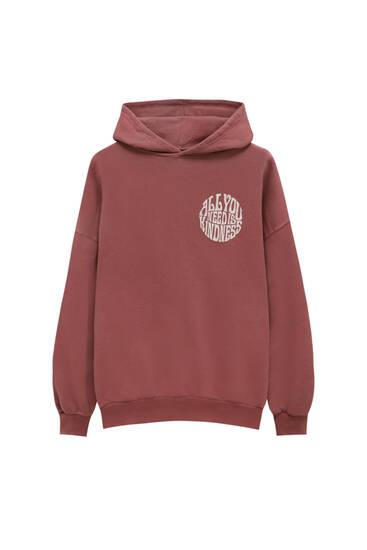 Sweater met retroprint