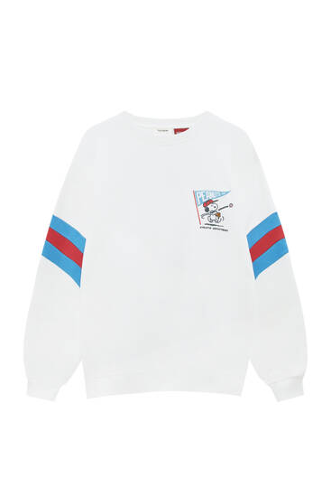 Sweat Snoopy blocs manches