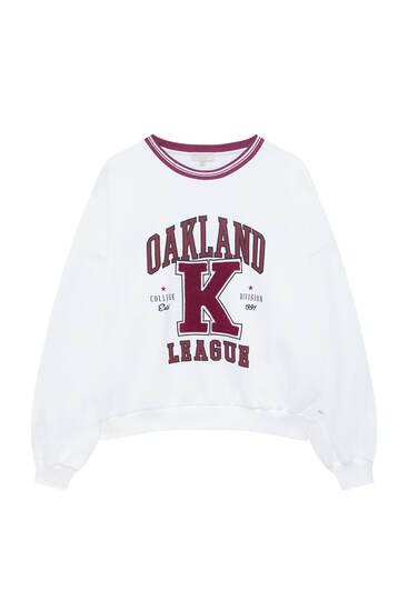 Sweat Oakland à bords-côtes