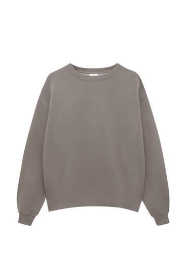Basic oversized sweatshirt met ronde hals