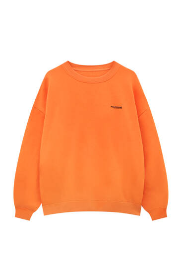 Basic contrast slogan sweatshirt