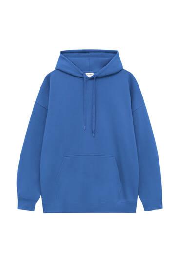 Sudadera oversize capucha color