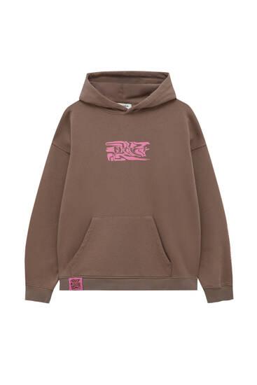 Retro slogan hoodie